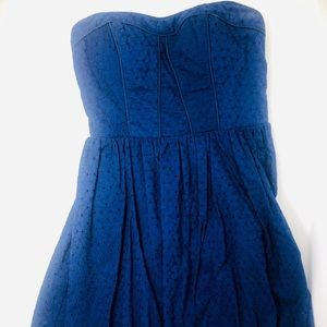 Strapless Bluebell Mini Dress